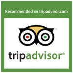 We have earned a Recommended on TripAdvisor stiker